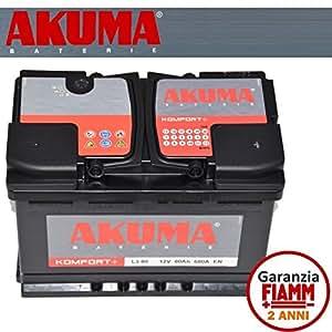 batterie voiture akuma komfort 80 ah 12 v 680 a original citroen xsara picasso. Black Bedroom Furniture Sets. Home Design Ideas
