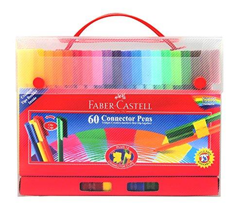 Faber-Castell – Set de 60 bolígrafos (con enganches)