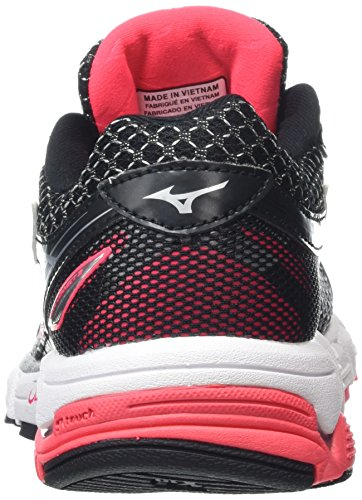 Mizuno Wave Connect 3, Chaussures de Running Compétition Femme Black (Black/Diva Pink/Silver)