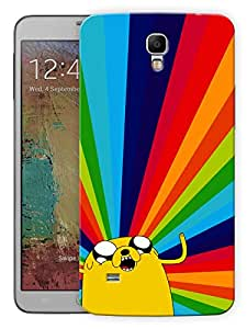 """Humor Gang Tripped Out Cartoon - Yellow Printed Designer Mobile Back Cover For """"Samsung Galaxy Mega 6.3"""" (3D, Matte Finish, Premium Quality, Protective Snap On Slim Hard Phone Case, Multi Color)"""