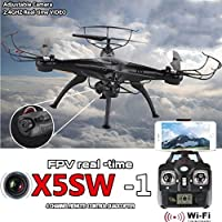 Jiayuane FPV Real-time Transmission Remote Control Aircraft,Drone with Headless Mode for Kids,Cool LED Lights High and Low Speed Switching,360 Degree All-round 3D Tumbling Flying Toys from Cewaal
