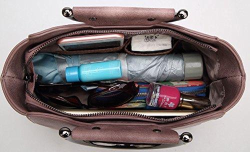 Hobo Wildleder Grau Beuteltaschen Velours neuer Veloursleder Light Bags Bags Damen Schultertaschen Tasche Beutel Stil Trend Keshi Handtaschen UIqBa8Oww