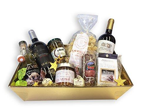 Feinkost Geschenkkorb SAPORI D'ITALIA DELUXE mit ausgesuchten italienischen Delikatessen Spezialitäten