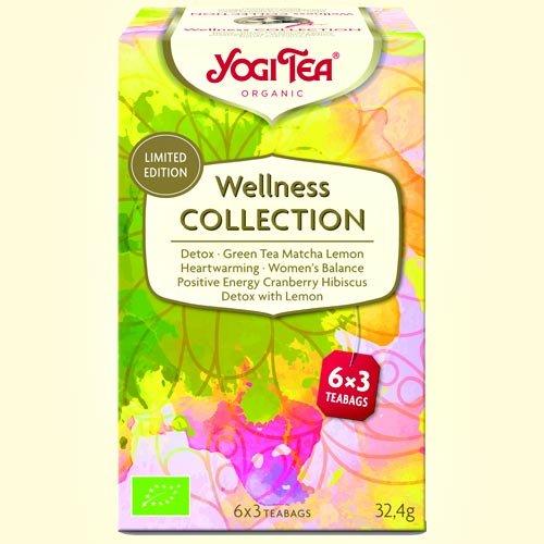 YOGI TEA - Sélection de 6 Différent Types de Infusions Detox et Bien-être - 18 filtres