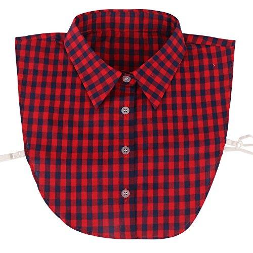 Yiye Damen Half Shirts Abnehmbar Halsbands Ersatz-Shirt Kragen Baumwolle (Neue Weiße T-shirt Mops)