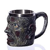 HSXOT 1Pcs 3D450Ml Cup Gothic Tank Decoración De Halloween Cup Beer Cup Regalo De Los Hombres 3