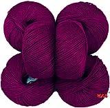 #8: Vardhman Acrylic Knitting Wool, Pack of 6 (Magenta) Baby Soft Wool Ball Hand knitting wool / Art Craft soft fingering crochet hook yarn, needle knitting yarn thread dye