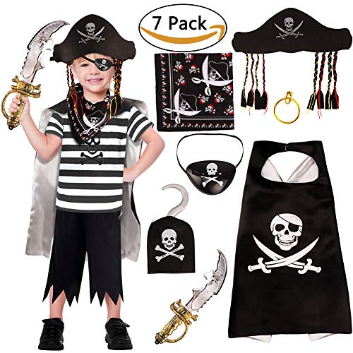 VAMEI Pirate Costumes for Kids A...