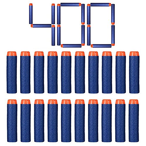 Nerf Relill Bullet Compatible Bullet Dardos Soft Tip Blasters Kid Toy Gun para Nerf Toy Gun N-strike Elite Series 50/100/200/300/400/500/600/1000 Pack Blue (400 PCS)
