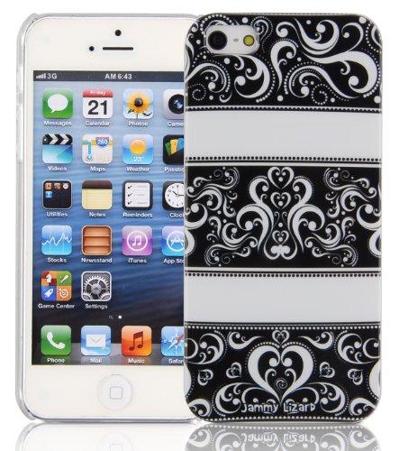 JAMMYLIZARD | Coque motif Hivernal pour iPhone 5 5s, Renne Vintage - BLACK VINTAGE