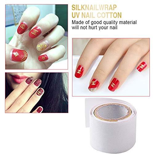 1 rouleau 1 m auto-adhésif soie wrap wrap renforcer l'utilisation des ongles avant gel UV ongles acrylique salon de la maison de protection outil blanc