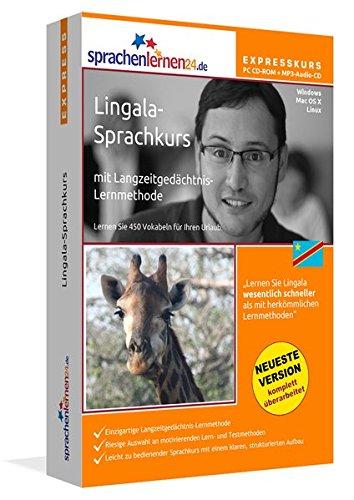 Lingala-Expresskurs mit Langzeitgedächtnis-Lernmethode von Sprachenlernen24: Fit für die Reise in den Kongo. Inkl. Reiseführer. PC CD-ROM + MP3-Audio-CD für Windows 10,8,7,Vista,XP/Linux/Mac OS X