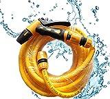 AMYMGLL Auto waschen Wasserpistole Haushalt Anzug Schlauch pcv + Alle Kupfer Autowäscher Hochdruckwasserpistole Gartenschlauch Werkzeug-Set Universal-Stecker , 15m