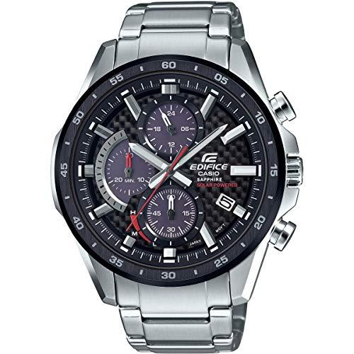 Casio Herren Analog Solar Uhr mit Edelstahl Armband EFS-S540DB-1AUEF