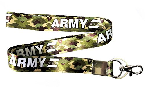 Blue Aura Army Camouflage Lanyard Keychain ID Card Holder For Office Bike Keychain Collectible.
