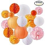 BENECREAT 17PCS Orange rosa wei