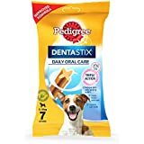 Pedigree Dentastix Small Breed (5-10 kg) Oral Care Dog Treat (Chew Sticks) (7 Sticks) 110g Weekly Pack