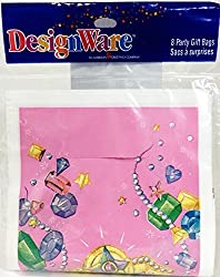 Princess Tiara Jewel Party - Party Gift Bags (8 Count)