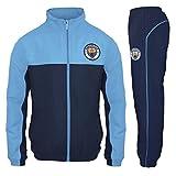 Manchester City FC - Jungen Trainingsanzug - Jacke & Hose - Offizielles Merchandise - Geschenk für Fußballfans - Blau - 12-13 Jahre