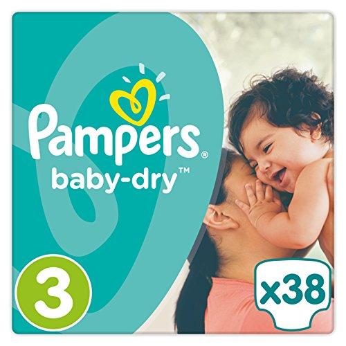 Preisvergleich Produktbild Pampers Baby Dry Windeln, Gr. 3 (5-9 kg), 1er Pack (1 x 38 Stück)