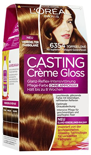 L'Oréal Paris Casting Creme Gloss, 6.354 Toffee Love, 1er Pack (1 x 1 Stück)
