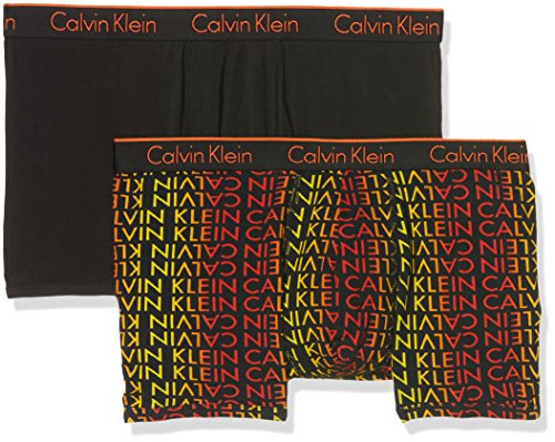 Calvin Klein Herren Boxershorts 2p Trunk SOL LOGO SPICE MARKET BLACK