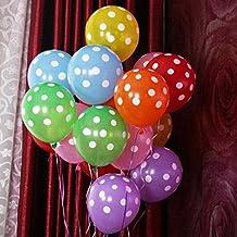 Lote de 100globos + bomba de balón inflador de balones de alta calidad decorado con látex globos por puntos muy repetidos para decoración fiesta cumpleaños boda tarde Color aleatorio