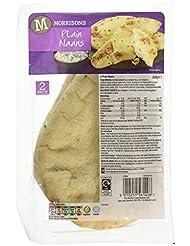 Morrisons Plain Naan Bread, 2 x 130g Breads