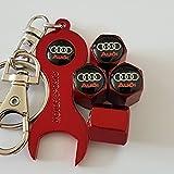 Speed Demon AUDI Roter Staub Ventilkappen mit Doppel doppelseitigen Schraubenschlüssel begrenzt für alle Automodelle