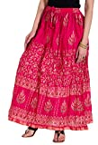 Rangsthali Cotton Gold Printed Womens lo...