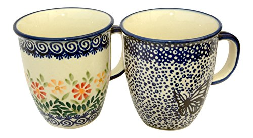 hand-decorated-polish-pottery-manu-faktura-set-k-081-hmot-js14-cup-pack-of-2-mars-90-cm-cobalt-blue-