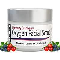 Derma-nu - Oxygen Facial Scrub - Blueberry Cranberry Anti Oxidant Face Exfoliating Scrub - With Aloe Vera, Vitamin C and Amino Acids - 60ml
