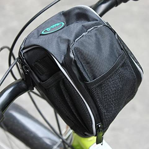 Bicicleta para manillar Bar Bolsa Frontal Alforja Marco Tubo Cesta de Rack.