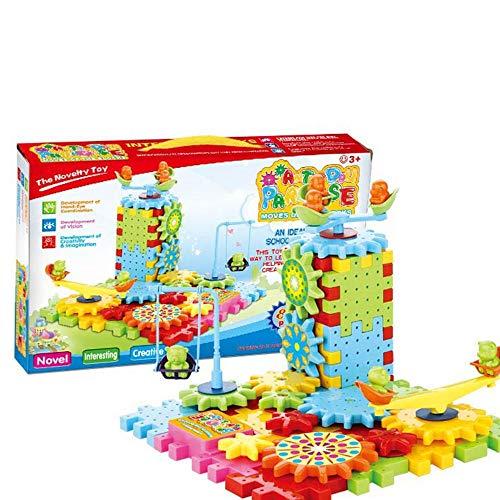 Spielzeugmodell pädagogisches Spielzeug, das Kinde 81 stücke elektrische getriebe bausteine   set spielzeug pädagogisches spielzeug, ineinander greifen lustige bausteinziegelsteine, motorisierte spinn - Junge Spielzeug Gebäude