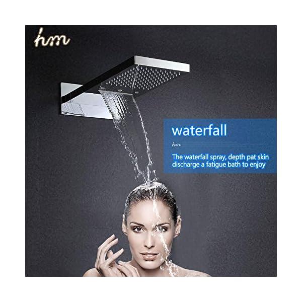 hm Combo doccia termostatico digitale con Touch controllo pannello SUS304 soffione massaggio cascata bagno parete…
