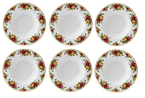 Royal Albert Old Country Roses Suppenteller #15210014, 6 Stück Royal Albert Old Country Roses