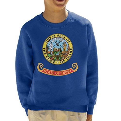 Coto7 Great Seal of The State of Idaho Flag Kid's Sweatshirt - Idaho State Seal