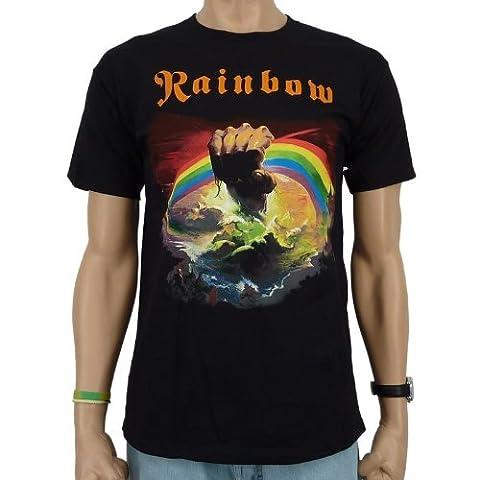 Rainbow - Rising Band T-Shirt, schwarz, Größe:M