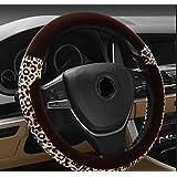 X&L De lujo/leopardo/dirección rueda cubierta/invierno/suave/auto/set/cosméticos/artículos de tocador , 38cm