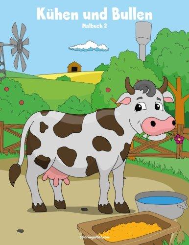 Malbuch mit Kühen und Bullen 2