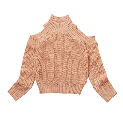 Baby Pullover Stricken (Mutter Tochter stricken Pullover, Huihong Familie passenden Pullover Mädchen Frauen stricken Pullover Outfits (Khaki, Baby 2T(100)))