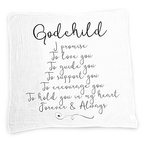 Godchild baby swaddle blanket by ocean drop designs muslin swaddle godchild baby swaddle blanket by ocean drop designs muslin swaddle baby wrap with scripture quotes for baby shower christening thecheapjerseys Choice Image