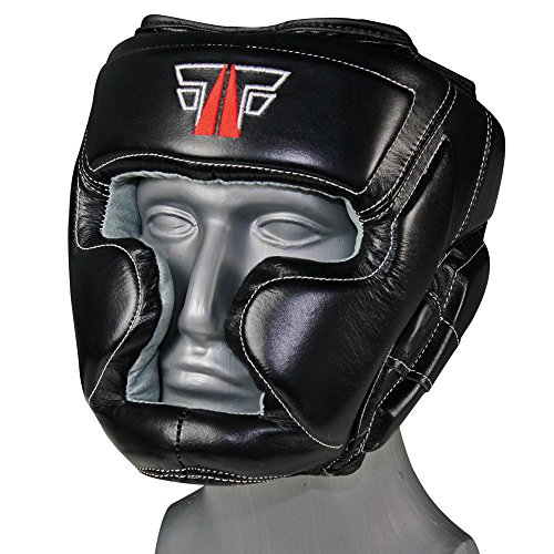 MMA Kopfschutz Echtes Leder Boxen Muay Thai Kikboxen Kopfschoner FOX-FIGHT Abbildung 3