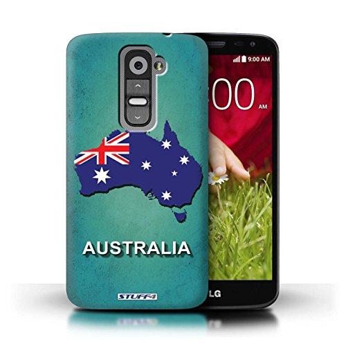 Kobalt® Imprimé Etui / Coque pour LG G2 Mini/D620 / Suède/Suédois conception / Série Drapeau Pays Australie
