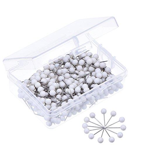Outus transluzente Pins-Karten-Stifte, 400Stück (Mehrfarbig) Box Mit Push-pins