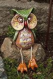 Keramik Eule Frieda mit Baumelbeinen Gartendeko Handarbeit Wohnen Tierfigur Kauz