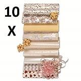 10 Stück Hochzeit Geschenkpapier, Geschenkrolle MIX, 20 m x 0,70 m