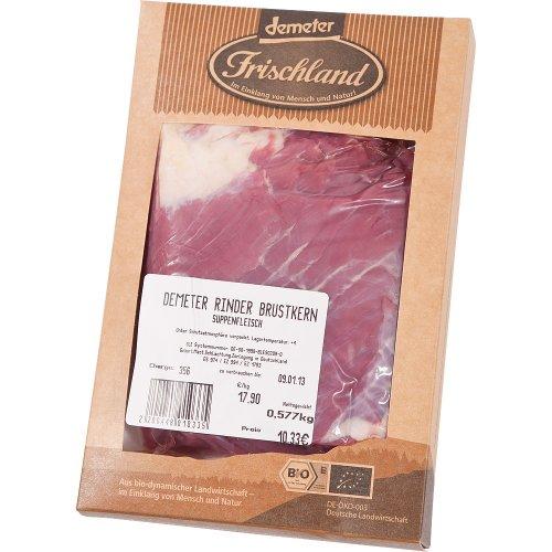 Frischland Bio Suppenfleisch Brustkern ca. 600 gr (6 x 600 gr)