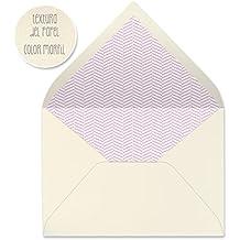sobres forrados invitaciones de boda ESPIGA 22,5x16,5 cm. (rosa)