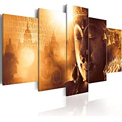 murando - Cuadro en Lienzo 200x100 cm - Buda - Impresion en calidad fotografica - Cuadro en lienzo tejido-no tejido - h-A-0054-b-n